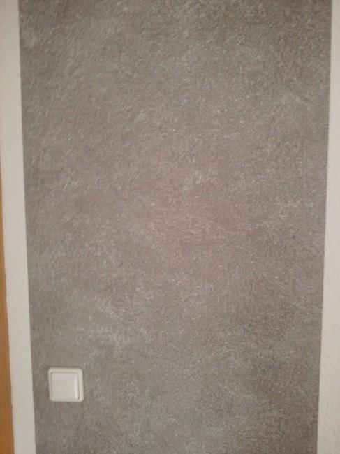 wand wischtechnik in grau mit wei en effekt pigmenten. Black Bedroom Furniture Sets. Home Design Ideas