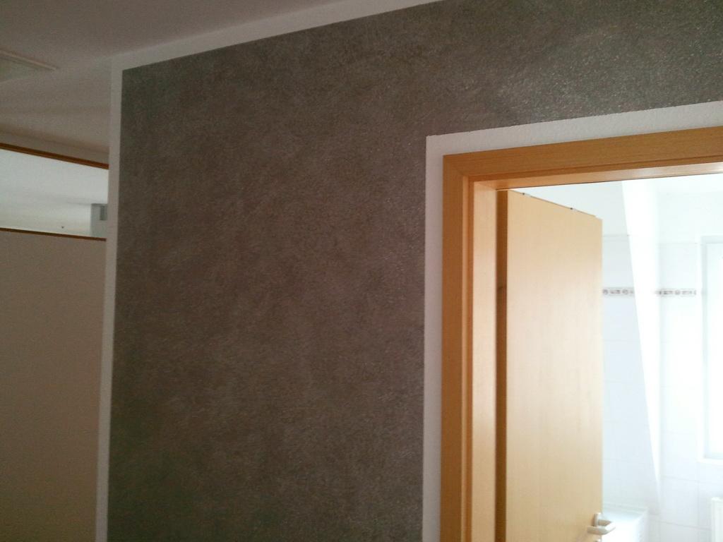Wand Wischtechnik In Grau Mit Weissen Effekt Pigmenten Direkt Vom Handy