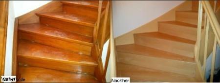 alte holztreppe schritt f r schritt sanieren und renovieren fu boden material. Black Bedroom Furniture Sets. Home Design Ideas